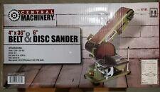 Belt Disc Sander Combo 35 Amp Bench Top Grinder Miter Bevel Wood Work Shop