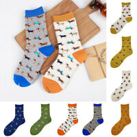 Unisex Cartoon Dog Print Fashion Cotton Comfy Soft Ankle Short Casual Socks