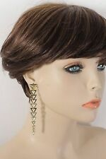 Women Earrings Fashion Jewelry Gold Metal Extra Long Triangles Urban Geometric