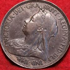 1896 Great Britain 1/2 Penny Foreign Coin