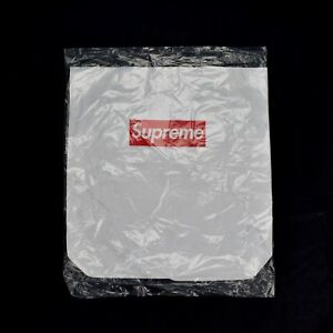 NWT Supreme NY Red Box Logo Print SEALED White Tyvek Tote Bag FW15 DS AUTHENTIC