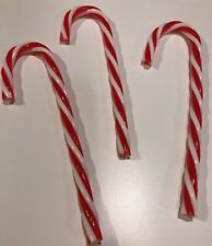 Peppermint Candy Canes Ornaments S/3 Xmas Tree Decor Candy Decor Fake Food