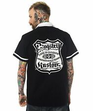 Dragstrip Clothing Bowling Shirt Hot Rod Rockabilly Shirt Route66 Life is Racing