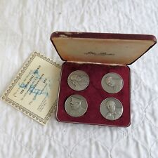 WINSTON CHURCHILL 1970 44mm  ANTIQUE SILVER 4 MEDAL SET - COA 009 - by cornell