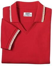 Port Authority Women's Cool Mesh Golf Polo Shirts with Tip Stripe Trim NEW L431