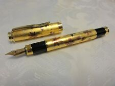 "Handmade Japanese golden Makie fountain Pen ""Spring and Autumn"""