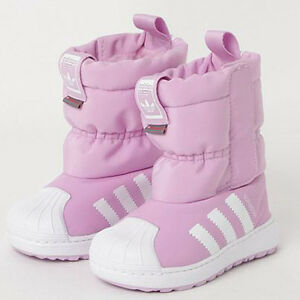 Pink Superstar Winter 3R CF infant baby shoes Adidas B37303 toddler