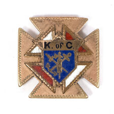 "Vintage Knights of Columbus Metal Cross Pendant .90"""