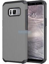 SAMSUNG GALAXY S8+ PLUS G955 GREY ASTRO ARMOR IMPACT HYBRID CASE 2PIECE COVER