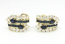 Sapphire and Diamond Earrings in 18k Yellow Gold - HM1621