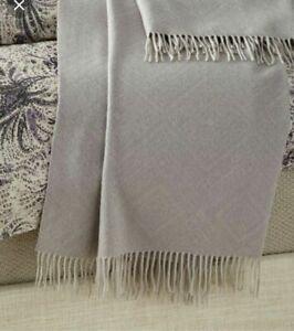Ralph Lauren Dover Street Throw Blanket Gaige Gray Luxury Wool Super Soft $400