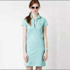 LaCoste Blue Teal Polo Dress 36 Sz Small S 4-6