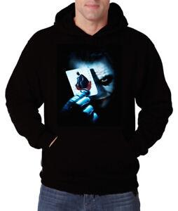 Herren Hoodie Pullover Kapuze Joker Gotham Clown Horror Smile Pennywise