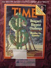 TIME Magazine January 19 1981 Jan 1/19/81 RONALD REAGAN ECONOMY IRAN HOSTAGES