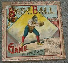 Antique McLoughlin Bros of New York Boxed Baseball Game-Choice Graphics-LOOK!