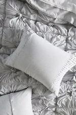 NEW Lazybones Organic Cotton Jersey Rosette Standard Shams Set Of 2 Gray