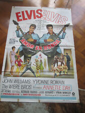 Original film poster rare Elvis Double trouble