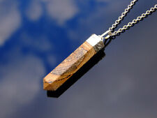 Picture Jasper Crystal Hexa Point Pendant Natural Gemstone Necklace Healing Ston