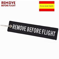 Llavero REMOVE BEFORE FLIGHT Avión A380 Moto Airbus Viaje Keychain Llaves Negro