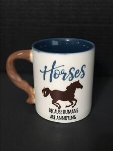 Cracker Barrel Mug With the horse And Tail For It's Handle.