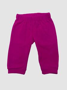 $145 The North Face Baby Infants Girls Baby Pink Elastic-Waist Fleece Pants 3-6M