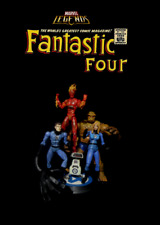 Marvel Legends HUMAN TORCH, MISTER FANTASTIC FOUR 4, INVISIBLE WOMAN & THING Set