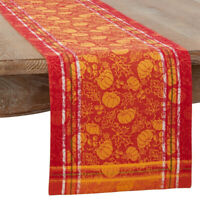 Fennco Styles Harvest Jacquard Cotton Tablecloth, Runner, Napkins, Placemats