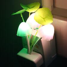 Romantic Colorful Mushroom Avatar Night Light Bed Saving LED Sensor Bulb Lamp