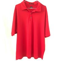 Tiger Woods Collection Nike Fit Dry Golf Mercerized GRID Polo Shirt RED