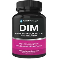 Pure DIM Supplement 250mg Diindolylmethane Plus BioPerine and Dong Quai - Hor...