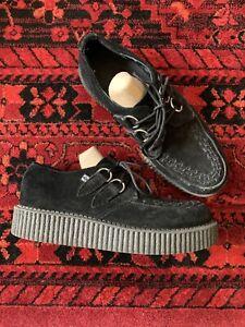 Tuk T.U.K. Unisex Viva Lo Sole Creepers Shoes Black Suede A7270