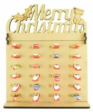 Kinder Chocolate Bars Holder Advent Calendar with Merry Christmas Topper Gift