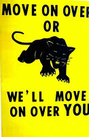 FAMOUS CLASSIC BLACK PANTHER PARTY POSTER 1960's  scarce 2nd or 3rd print?