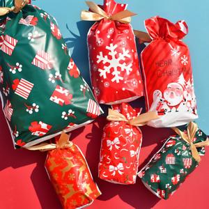 Christmas Santa Gift Candy Drawstring Snowflake Crisp Bag Home Decor Party suply