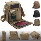 Men's Military Vintage Canvas Leather Satchel Shoulder Bag Messenger School Bag