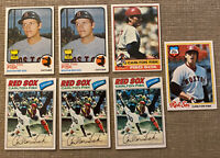 1973 Topps Carlton Fisk (7) Card Lot Boston Red Sox!