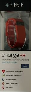 Fitbit Charge HR Heart Rate Fitness Activity Sleep Tracker Wristband - LARGE
