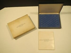 Franklin Mint States of the Union Mini Coin Set Sterling Silver Complete Sealed