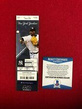 "Aaron Judge, ""Autographed"" (Beckett), (MLB Debut Ticket) (1st HR)"