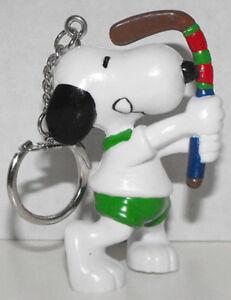 Snoopy Playing Hockey 2 inch Figurine Keychain Peanuts Figure Key Chain SNPK011