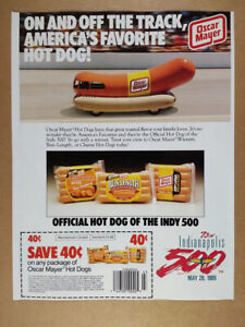 1989 Oscar Mayer Hot Dogs wienermobile photo vintage print Ad