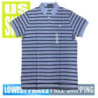 Polo Ralph Lauren Men's NWT Custom Fit Blue & Navy Polo Shirt 2XL