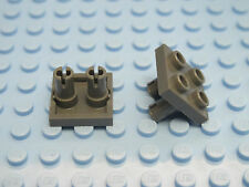 LEGO 15092 6066952 Qty. 2 Plate 2x2 Inverted 2 Snaps Dark Stone Grey