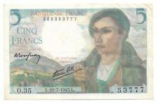 Billet France 5 Francs 1943