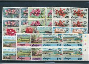 [G28035] Antigua Good lot in blocks of 4 stamps very fine MNH