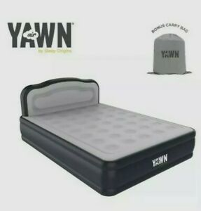 YAWN Air Bed Self-inflating Airbed Mattress with Built-in Pump-Double