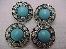 Vintage Set of Buttons (Set # 90) Buttons turquoise color
