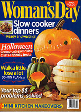 Woman's Day 2013 Halloween Pumpkin Carving Decorating Cake Recipes Slow Cooker