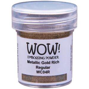 WOW! Metallic Embossing Powder Gold Rich Regular   15ml Jar