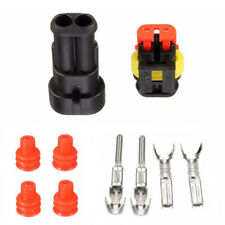 Waterproof PA66 2 Pin Way Wire Connector Terminals For Motorcycle Electrical Car